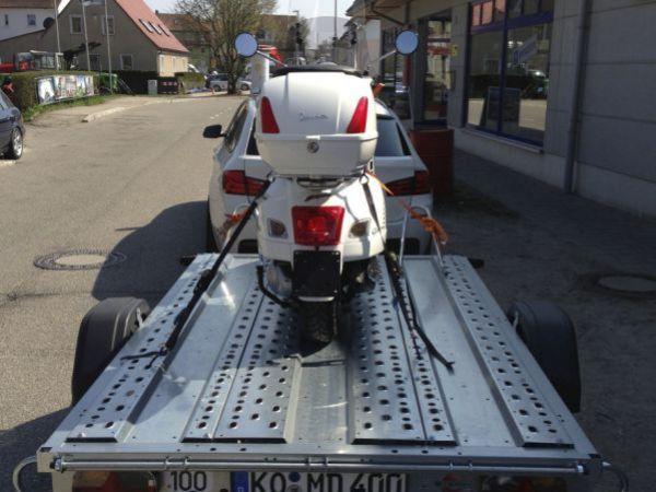 Mototrrad Transporter Klein Gebremst Deyring Anhaenger Img 2138